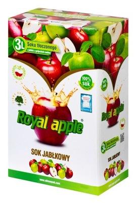 СОК Яблочный ОТЖИМА 3Л, 100 % ПРИРОДА ROYAL-APPLE