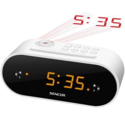 Radiobudzik SENCOR SRC 3100 W Biały z Projektorem