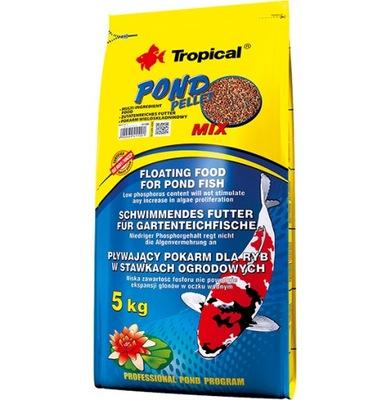 Tropical ПОНД Пеллеты микс 40l 5кг корм для рыб