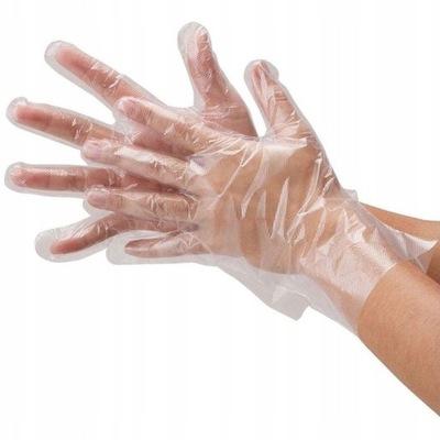 одноразовые перчатки из Фольги 100 штук /кол-во в упак