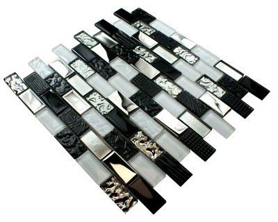Mozaika szklana VOLCANO BLACK&WHITE ENGLASS