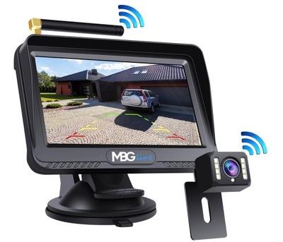 BEZPRZEWODOWY КОМПЛЕКТ ЗАДНЕГО ВИДА HD КАМЕРА + LCD 4.3''