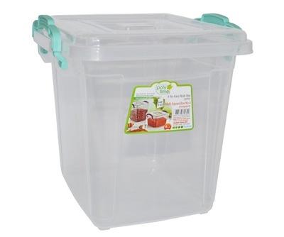 Pudło Pojemnik Plastikowy Pokrywa 4L WYTRZYMAŁY
