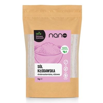 Sól kłodawska drobna różowa niejodowana 1 kg