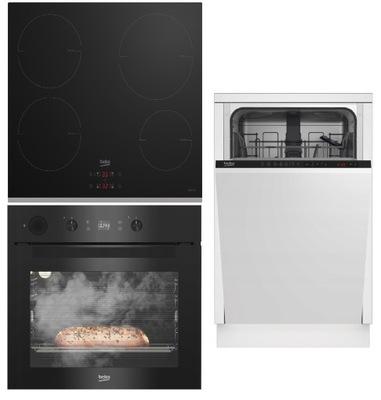 комплект Beko Духовой шкаф+ Посудомоечная машина+ плита индукционная