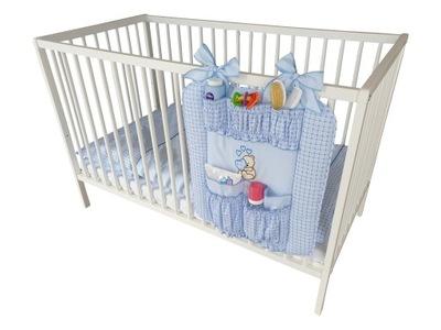Przybornik na łóżeczko Organizer - Serce Niebieski