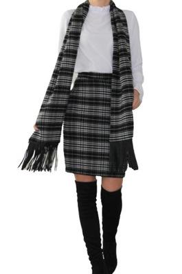Modna ciepła spódnica w kratę roz.52 (36-52)