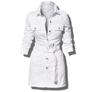 #JS723 biała Sukienka Jeans Szmizjerka jeansowa XL