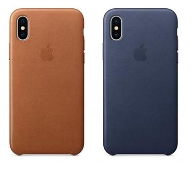 Etui APPLE Leather Case iPhone X Xs skóra ORYGINAŁ