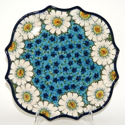 Тарелка цветы  ??????????  26 , 5см керамика