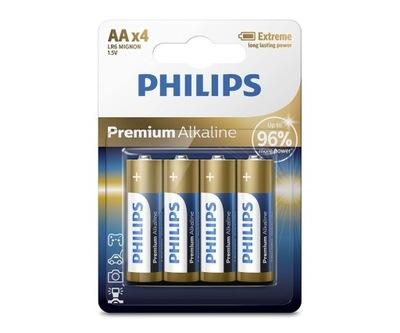 Baterie Philips Premium Alkaline AA LR6 4 sztuki