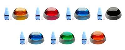 Barwnik transparentny zestaw 7 szt x 5ml do żywic