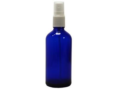 Butelka z atomizerem 100 ml szklana niebieska Łódź
