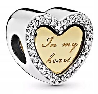 MD CHARMS beads SERCE IN MY HEART SREBRO 925