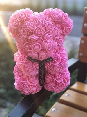 Medveď s ružami-25 cm! DARČEK RUŽE MEDVEĎ hit S SK 24