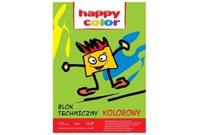 Blok techniczny kolor 170g A4 HAPPY C 3550 2030-09