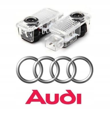 AUDI DIODO LUMINOSO LED LOGOTIPO HD PROYECTOR A3 A4 A5 A6 A8 Q3 Q5 Q7