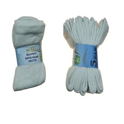 Skarpety bawełniane eco Frotte 5 par 41-43 Biały