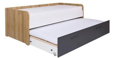 meble QUATRO 9 łóżko wysuwane podwójne 90 pojemnik