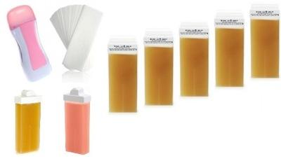 Podgrzewacz Zestaw Depilacji wosku+6x wosk + Paski