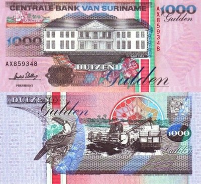 # SURINAM - 1000 GULDENÓW - 1995 - P-141 - UNC