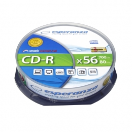 PŁYTY CD-R Esperanza Silver 700MB cake 10 szt