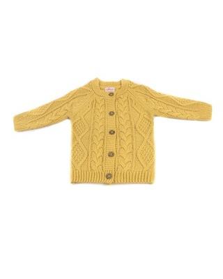 PEPCO Dziewczęcy, żółty, zapinany na guziki sweter