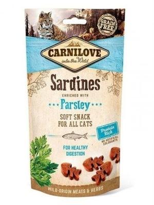 CARNILOVE SOFT SNACK CATS SARDINES PARSLEY 50 G