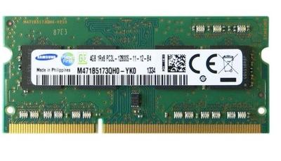 RAM SAMSUNG 4GB PC3L DDR3L SO-DIMM 12800S 1600MHz