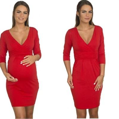 Sukienka ciążowa Tunika rękaw 3/4 XL