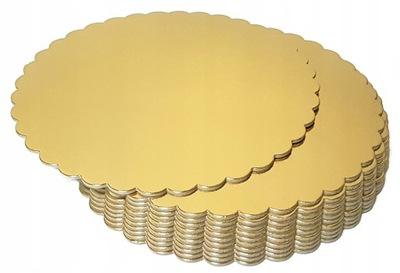 Podkład pod TORT Złoty okrągły 36 cm GRUBY SZTYWNY