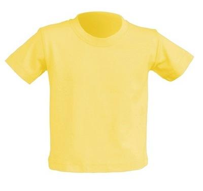 T-SHIRT DZIECIĘCY koszulka JHK jasn żółta 2+ LY 98
