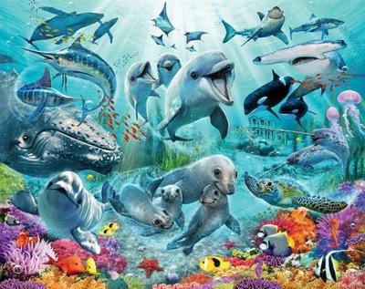 FOTOTAPETA 3D DLA DZIECI Tapety Bajkowe Delfiny