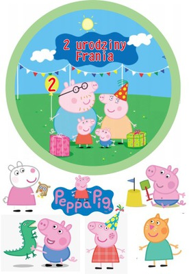 вафля торт Peppa Pig + комплект 5 виде