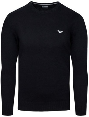 EMPORIO ARMANI sweter męski czarny SW14 r.M