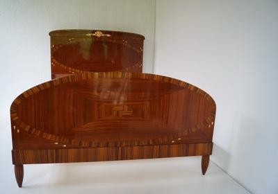 ŁÓŻKO ART DECO SECESJA Z LAT 1900-1910