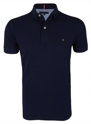 Koszulka Polo Tommy Hilfiger Slim Fit Granat r.M