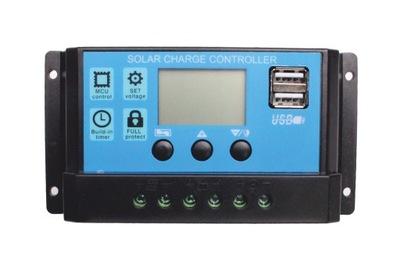 Regulator solarny PWM 10A 12/24V USB Light Control