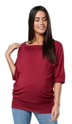 Bluzka ciążowa z napami i funkcją karmienia