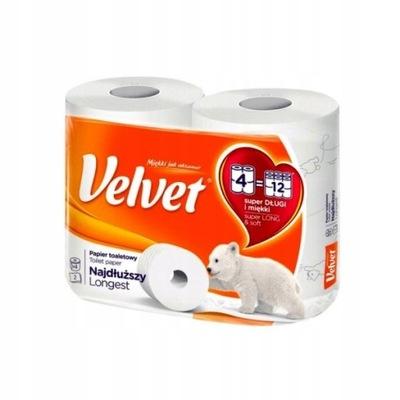 Velvet Papier toaletowy Najdłuższy 4szt jak 12 rol