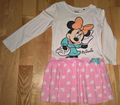 Śliczna sukienka z Minnie brokat C&A rozm. 104