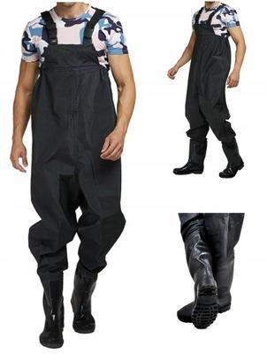 Wodery Spodniobuty Spodnie Wędkarskie + Szelki 44