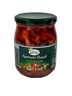 Pikantna papryka w oleju 580ml Delizia Italia