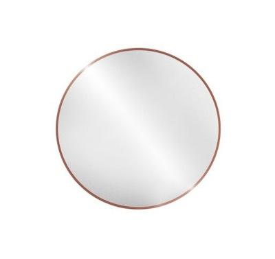 Okrúhle zrkadlo / kruh v ráme medené Optiwhite 90