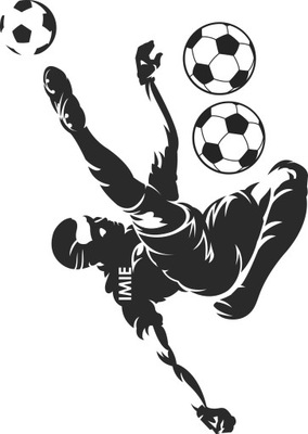 Samolepky na stenu pre futbalistov s menom XXXL