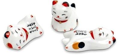 Podstawka Na Pałeczki z Motywem Kotka Maneki-Neko