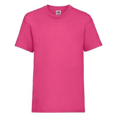 Koszulka dziecięca T-shirt VALUEWEIGHT fuksja 128