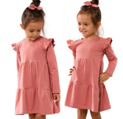 Sukienka Tiana - 128 RÓŻOWA- BAYA