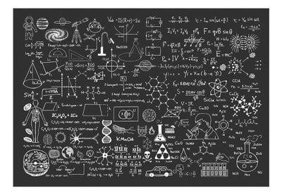 Fototapeta - Tablica naukowa - 200X140