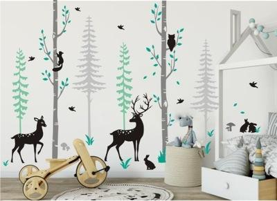Škandinávske nálepky lesné zvieratá srnčia zver 2